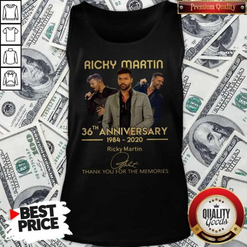 Ricky Martin 36th Anniversary 1984-2020 Thank You For The Memories Signature Tank Top