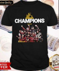 Top Liverpool Fc Premier League Champions 2019-20 Shirt