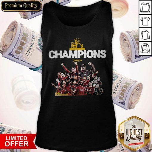 Top Liverpool Fc Premier League Champions 2019-20 Tank Top