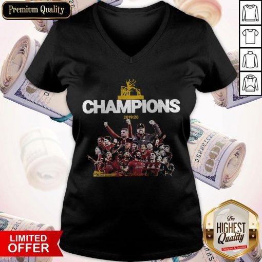 Top Liverpool Fc Premier League Champions 2019-20 V-neck