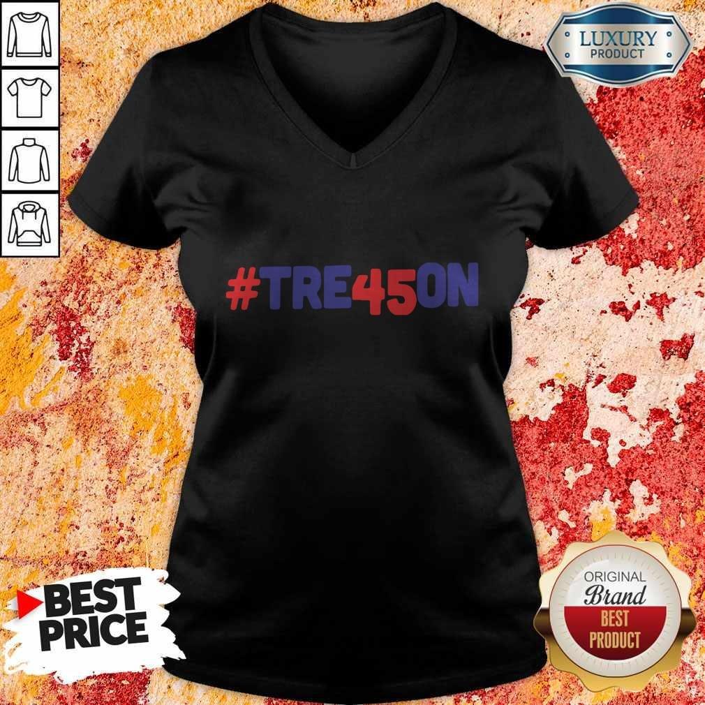 #Tre45on Anti Trump Treason V-neck