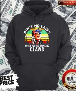 Trump Independence Day Aint To Laws When Youre Drinking Claws Hoodie