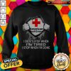 Blood Inside Me American Red Cross I Don't Stop When I'm Tired I Stop When I'm Done Sweatshirt