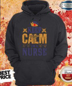 Caduceus keep Calm I'm A Nurse Hoodie