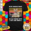Cool Never Underestimate An Old Woman With Cats And Books Sphynx Cat Vintage Retro Shirt