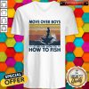 Fishing Move Over Boys Let This Girl Show You How To Fish Vintage Retro V-neck