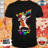Lgbt Flag Unicorn Too Cute To Be Straight Shirt