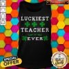 Luckiest Teacher Ever Shirt St Patricks Day Teachers T Tank Top