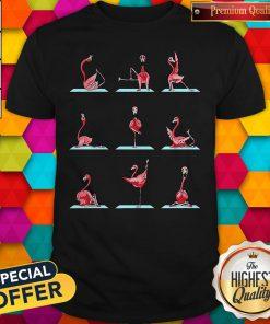 Nice Official Flamingo Yoga Pose Shirt