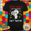 Official Face Mask Free Hugs Just Kidding Don't Touch Me Coronavirus Shirt