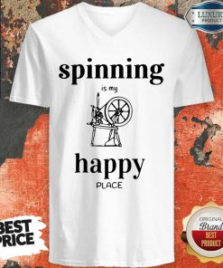 Official Spinning Is My Happy Place V-neck