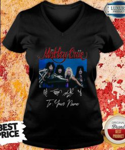 Tour 2020 2021 Motley Crue To Your Name Signatures V-neck