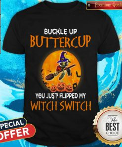Turtle Buckle Up Buttercup You Just Flipped My Witch Switch Halloween Moon Shirt