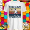 Volleyball Moms Bling It And Their Daughters Bring It Vintage Retro Shirt