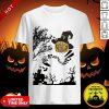 Were All Mad Here Cat Pumpkin Witch Halloween Shirt