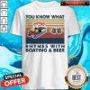 You Know What Rhymes With Boating And Beer Vintage Shirt