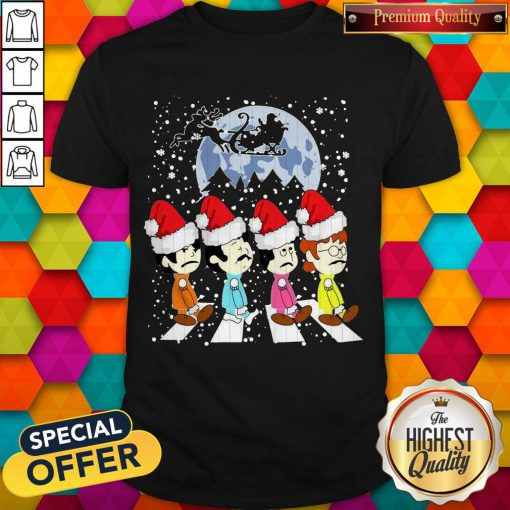 Awesome The Beatles Abbey Road Christmas Shirt