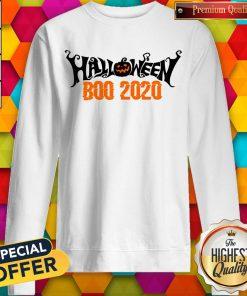 Boo 2020 Pumpkin Funny Happy Halloween Day Sweatshirt