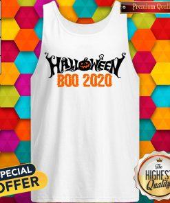 Boo 2020 Pumpkin Funny Happy Halloween Day Tank Top
