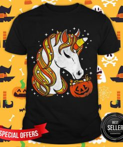 Candy Corn Unicorn Halloween Shirt