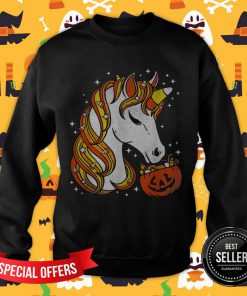 Candy Corn Unicorn Halloween Sweatshirt