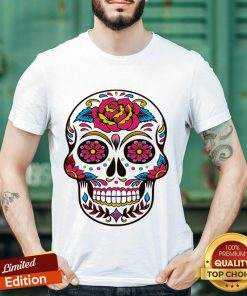 Colorful Flowers Sugar Skull Face Day Of The Death Shirt