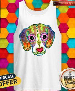 Day Of The Dead Dia De Los Muertos Beagle Sugar Skull Dog Tank Top