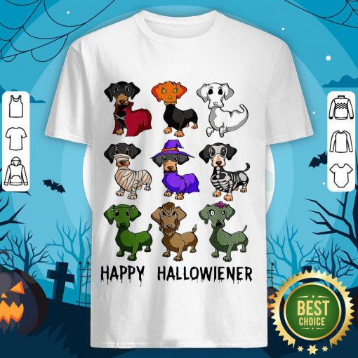 Good Quality Dachshund Happy Halloween Shirt