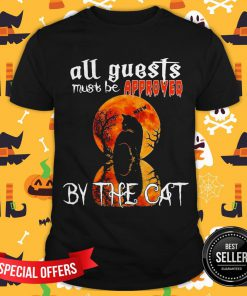 Halloween All Guest Must Be Approved By The Cat Moon Shirt