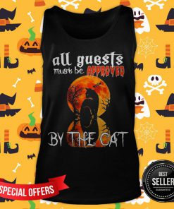 Halloween All Guest Must Be Approved By The Cat Moon Tank Top