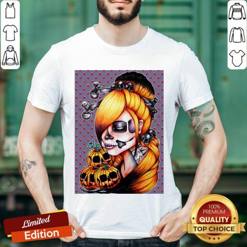 Halloween Pumpkin Sugar Skull Day Of Dead Muertos Shirt