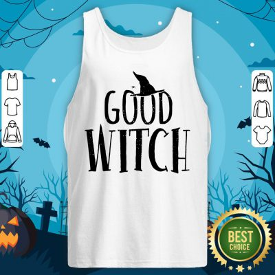 Halloween Witch Shirt Good Bad Funny Mom Sisters Scary Tank Top