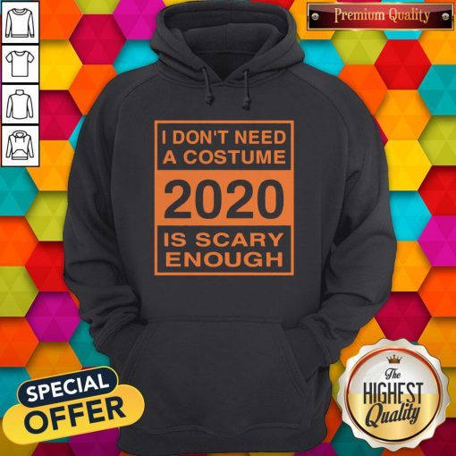 I Don't Need A Costume 2020 Scary Enough Funny Hoodie