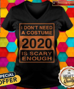 I Don't Need A Costume 2020 Scary Enough Funny V-neck