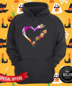Official Halloween Horror Characters Heart Hoodie