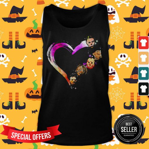 Official Halloween Horror Characters Heart Tank Top