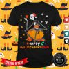 Pretty Jack Skellington Hug Chicken Happy Hallothanksmas Shirt