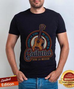Retro Skull Cuando La Vida Me Gopea Toco Mi Guitarra Viva La Mexico Shirt