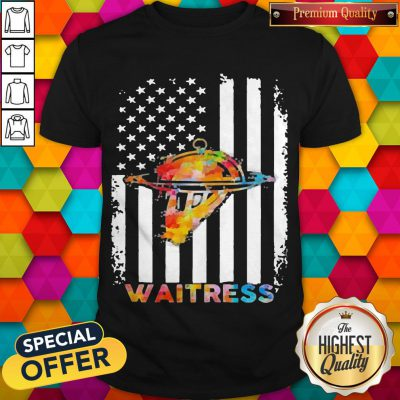 Top Waitress American Flag Independence Day Shirt