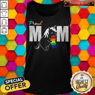 Unicorn Proud Mom LGBT Mother's Day Tank Top