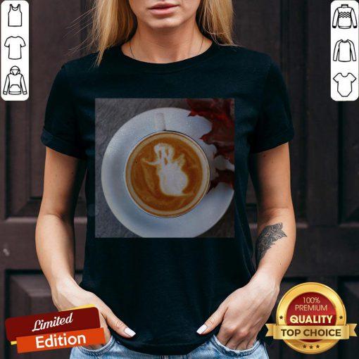 Atr Ghost Latte Coffee Halloween V-neck