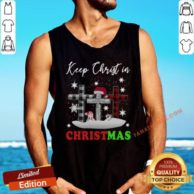 Funny Jesus Keep Christ In Christmas Tank Top - Design By Fanatictees.com