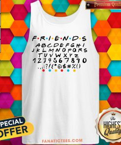 Good Friends Font Friends Letters, Numbers And Dots, Clip Art, Cricut, Friends TV-Show Font, Friends Tank Top - Design By Fanatictees.com