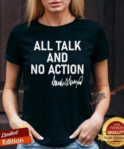 Hot All Talk And No Action Donald Trump Presidential Debate 2020 V-neck - Design By Fanatictees.com