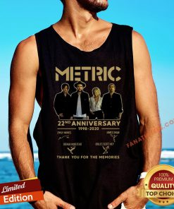Hot Metric 22nd Anniversary 1998 2020 Thank You For The Memories Signature Tank Top - Design By Fanatictees.com