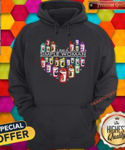 I Am A Simple Woman Heart Dunkin Donuts Hoodie - Design By Fanatictees.com