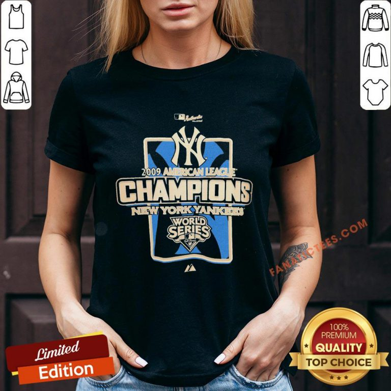 New York Yankees MLB 2009 Champions NYC V-neck - Design By Fanatictees.com