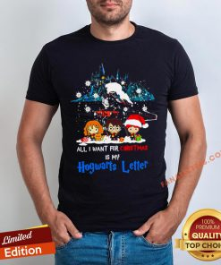 Nice All I Want For Christmas Is Hogwarts Letter Shirt - Design By Fanatictees.com