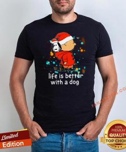 Nice Charlie Brown And Snoopy Life Is Better With A Dog Christmas Shirt - Design By Fanatictees.com