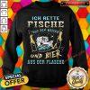 Nice Ich Rette Fische Aus Dem Wasser Und Bier Aus Der Flasche Sweatshirt - Design By Fanatictees.com